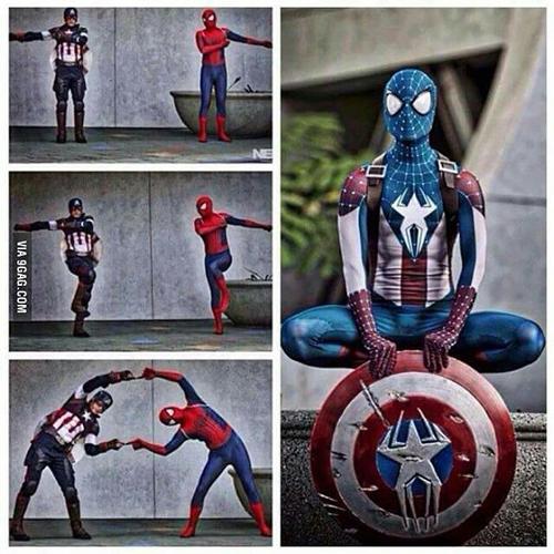 Spiderman dan Captain America