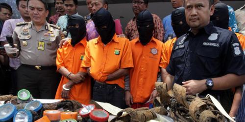 6 Maling Kabel di Gorong-gorong Istana Berhasil Ditangkap