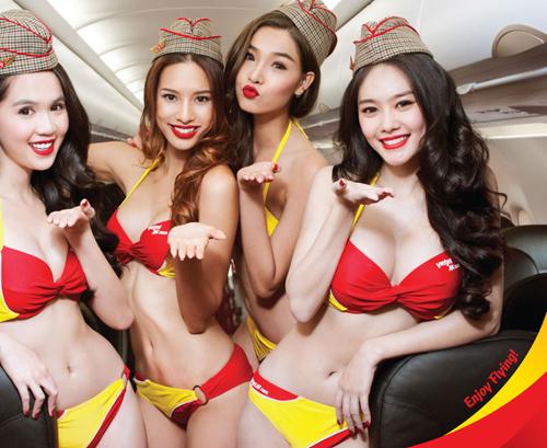 Foto Pramugari VietJet Air Berbikini Seksi di Pesawat
