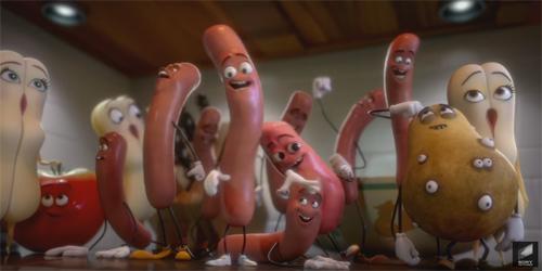 Aksi Kocak Sosis Selamatkan Diri Sebelum Dimasak di Trailer Sausage Party