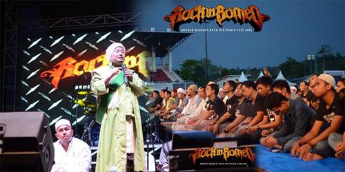 Festival Musik Metal Rock in Borneo 2016 Gelar Salat Bersama Saat Konser