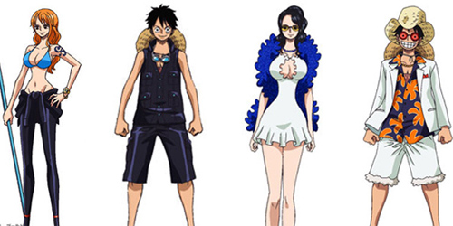 Foto: Kostum Karakter One Piece Film Gold