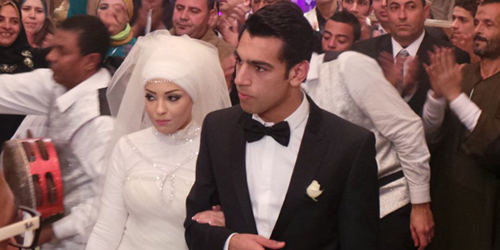 Mohamed Salah and his wife Makka.