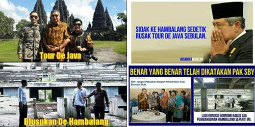 Meme Jokowi-SBY 'Hambalang Vs Tour De Java' Bikin Geleng-Geleng