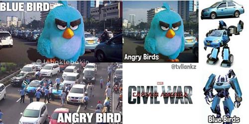 Meme Kocak Sindir Demo Sopir Taksi