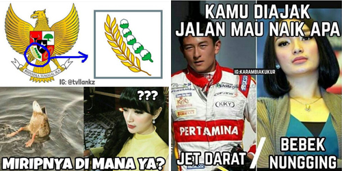 Netizen Geram! Beredar Meme 'Bebek Nungging' Zaskia Gotik