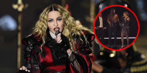 Spontan Tarik Baju, Madonna Bikin Payudara Fans Terekspos