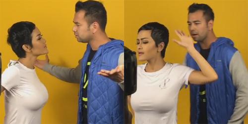 Syuting Video Klip, Netter Salah Fokus Lihat Dada Seksi Julia Perez