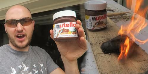 Video: Nutella Dibakar Nyala Api Membara Bikin Heboh