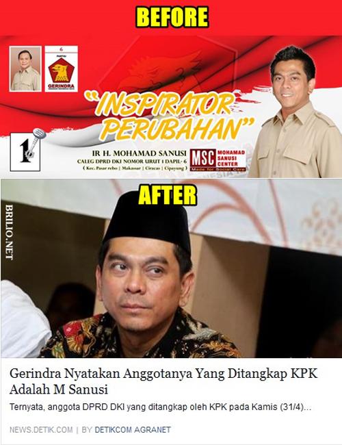 Gerindra nyatakan Anggotanya yang ditangkap KPK M Sanusi