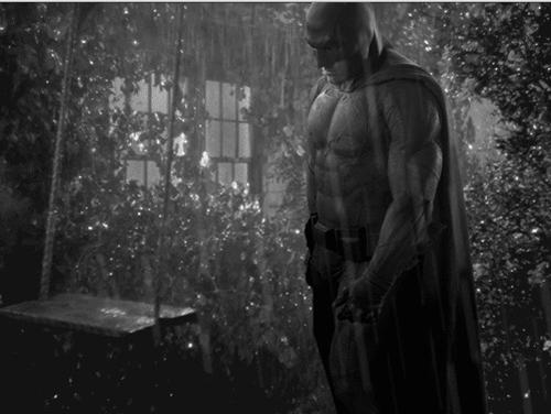 Batman hujan-hujan dan sedih