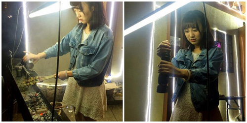 Gadis penjual sate @china.com