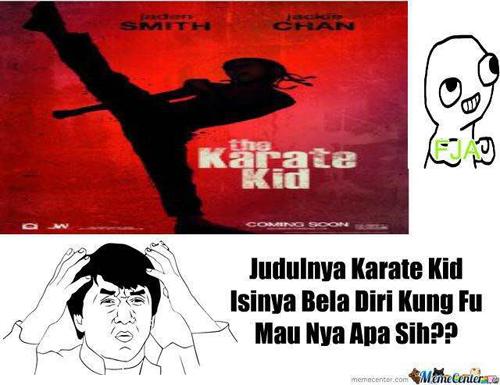 Judulnya karate Kid, isinya bela diri Kung Fu