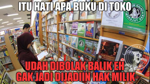 Itu hati apa buku di toko