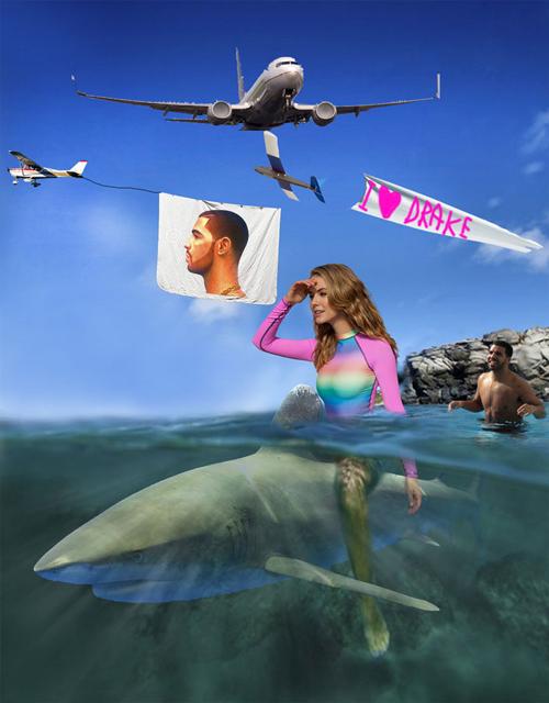 Menunggangi ikan paus di laut