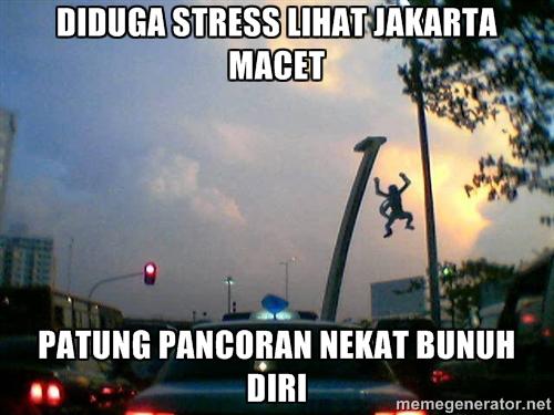 Diduga stres lihat Jakarta macet