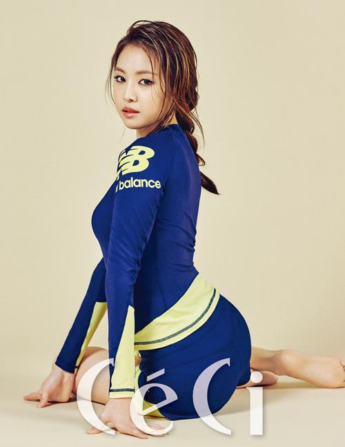 Foto Na Eun A Pink Seksi & Sporty di Majalah CeCi