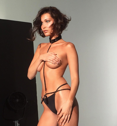 bella hadid bugil topless