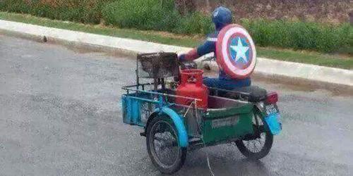 Captain America Antar Gas Elpiji Bikin Heboh