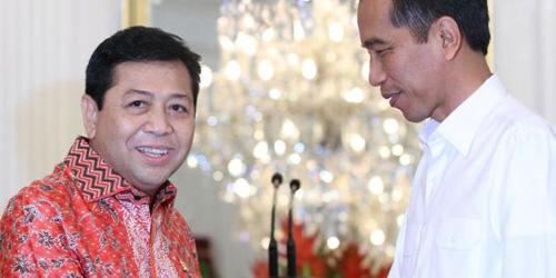 Ciee! Usai Papa Minta Saham, Setnov Puji Jokowi Habis-habisan