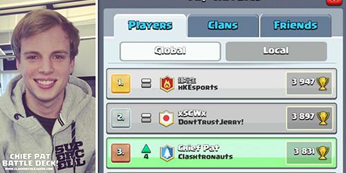 Demi Jadi Pemain Clash Royale Terbaik,  Chief Pat Habiskan Rp 160 Juta
