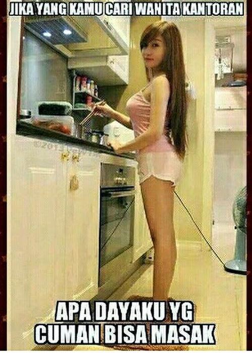 Apalah dayaku yang cuma bisa masak