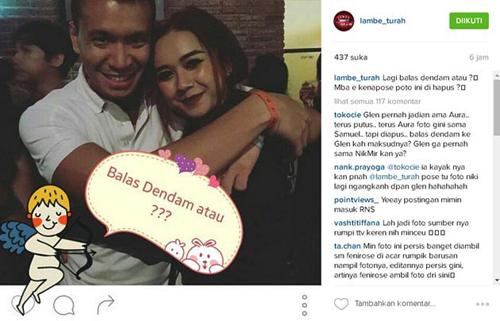 Samuel Rizal peluk Aura Kasih @instagram.com/lambe_turah