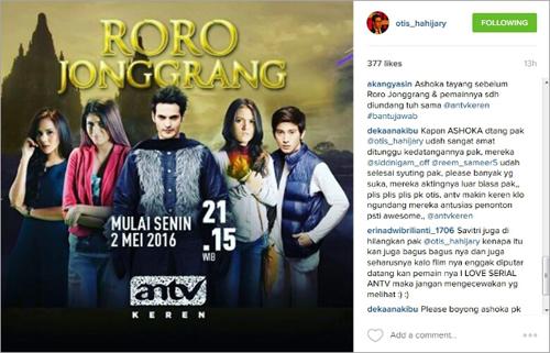 ANTV bakal hadirkan pemain Ashoka ke Indonesia @www.instagram.com/otis_hahijary