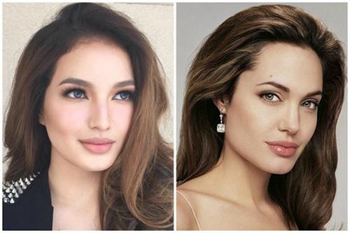 Sarah Lahbati dan Angelina Jolie