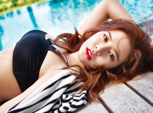 Foto Hot Sunny SNSD Berbikini di Bali untuk Majalah Sure