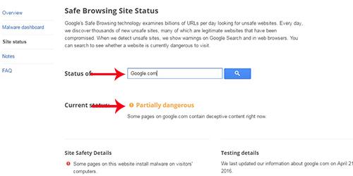 Google Sebut Situsnya Sendiri Berbahaya