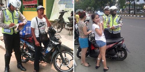 Kumpulan Foto Ekspresi Konyol Orang Kena Tilang