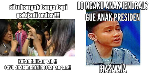 Kumpulan Meme Sonya Ngaku Anak Jendral Sampai 'Kutandai Ya'