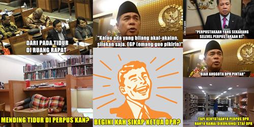Meme Menohok Sindir Pembangunan Perpus DPR Tak Perlu Ada