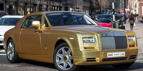 Noraknya Miliarder Saudi, Pamer Mobil Emas Rp 19 M di London