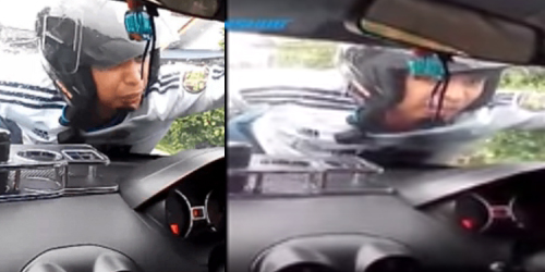 Nyesel Talak Cerai, Suami Bergelayut di Mobil Istri
