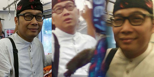 Ridwan Kamil KW Naik KRL, Penumpang Kecele Minta Selfie
