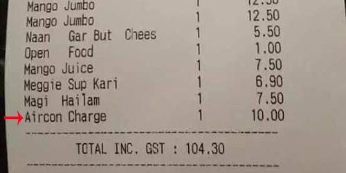 Waduh, Ada Biaya AC di Tagihan Makan Restoran Ini