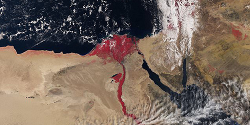 Warna Sungai Nil Berubah Merah Mirip Zaman Nabi Musa
