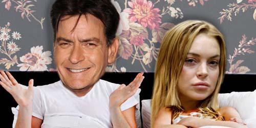Adegan Seks Lindsay Lohan dan Charlie Sheen Memuaskan