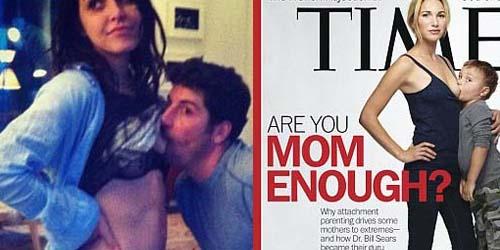 Bintang American Pie Parodikan Cover Kontroversi Menyusui Majalah Time