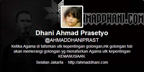 Siapakah Gadis Cilik di Foto Profil Twitter Ahmad Dhani ini?