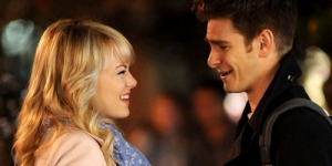 Andrew Garfield Cium Emma Stone di The Amazing Spider-Man 2