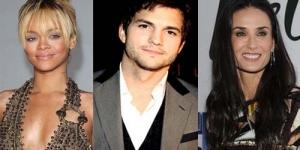 Ashton Kutcher & Rihanna Diisukan Pacaran, Demi Moore Patah Hati