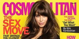 Hamil, Kim Kardashian Makin Seksi di Cosmopolitan
