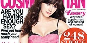 Kembaran Katty Perry 'Zooey Deschanel' Berlingerie di Cosmopolitan