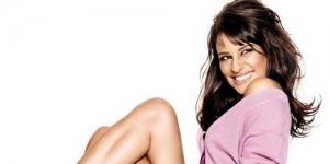 Lea Michele Pamer Paha di Glamour