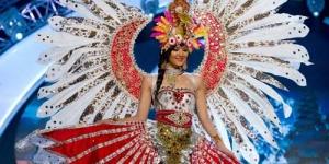 Maria Selena Kenakan Gaun 'Garuda' dalam sesi National Costume Miss Universe 2012