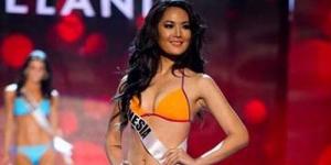Maria Selena Tampil dengan Bikini Oranye di Miss Universe Presentation Show 2012