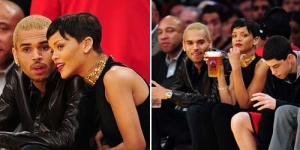 Natal Romantis, Rihanna dan Chris Brown Umbar Kemesraan Sambil Nonton Basket